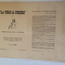Arte: COLECCION DE 4 LOS TOROS DE BURDEOS DE FRANCISCOY LUCIENTE GRABADO -ESTAMPADO. Lote 206271577
