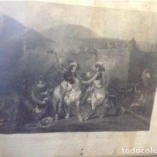Arte: GRAN GRABADO ANTIGUO FRANCES SIGLO XIX.MARCO ANTIGUO DE MADERA Y TRASERA DE TABLILLA. Lote 206316423