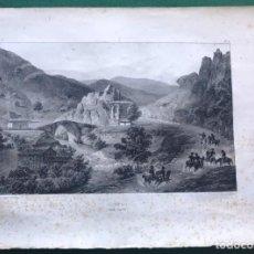 Arte: LITOGRAFÍA DE AMEYUGO, ERMITA DE SAN JUAN. MIRANDA DE EBRO, BURGOS. 1825. Lote 206419358