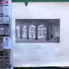 Arte: LITOGRAFÍA DE PALACIO MEDINA COELI. BURGOS. 1825. Lote 206419727
