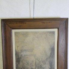 Arte: REMBRANT, LA MUERTE DE LA VIRGEN, S.XVII, GRABADO. Lote 206503771