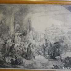 Arte: REMBRANT , JESUCRISTO PREDICANDO, S.XVIII, FIRMADO. Lote 206503821