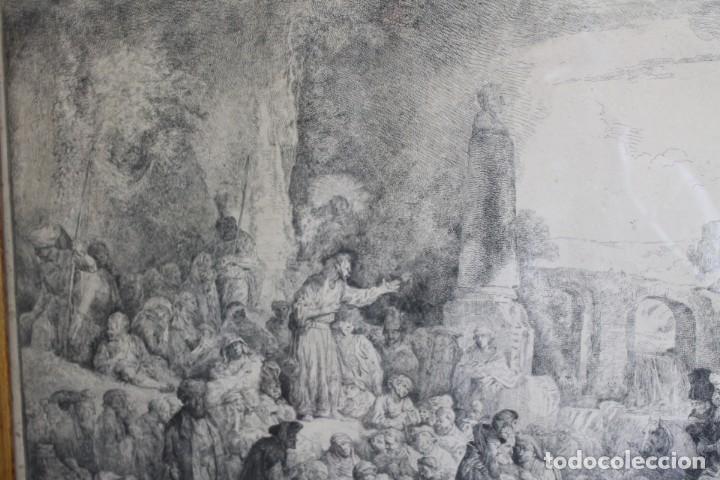 Arte: REMBRANT , JESUCRISTO PREDICANDO, S.XVII, FIRMADO - Foto 2 - 206503821