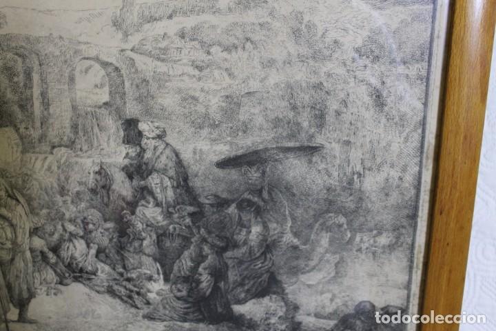 Arte: REMBRANT , JESUCRISTO PREDICANDO, S.XVII, FIRMADO - Foto 3 - 206503821
