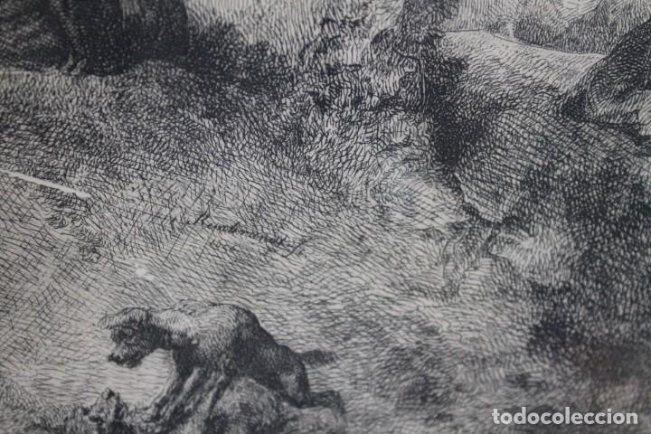 Arte: REMBRANT , JESUCRISTO PREDICANDO, S.XVII, FIRMADO - Foto 5 - 206503821