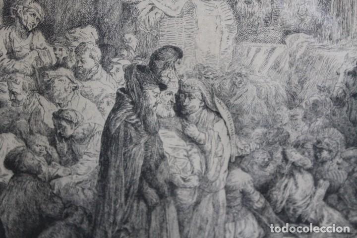 Arte: REMBRANT , JESUCRISTO PREDICANDO, S.XVII, FIRMADO - Foto 6 - 206503821