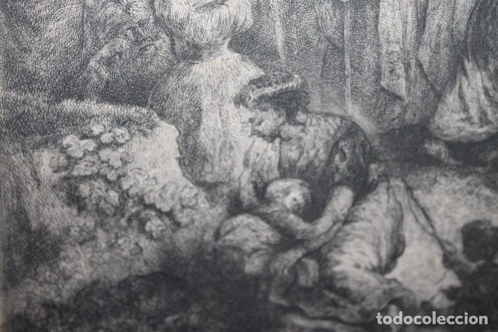 Arte: REMBRANT , JESUCRISTO PREDICANDO, S.XVII, FIRMADO - Foto 8 - 206503821