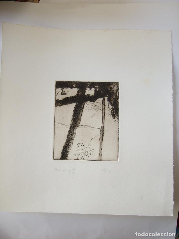 GRABADO FIRMADO BLUMENFELD 91 - 13/15 - MIDE EN TOTAL 29X27 - SOLO GRABADO 12,5X10 (Arte - Grabados - Contemporáneos siglo XX)