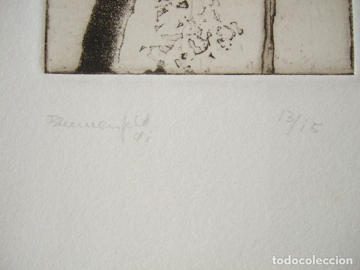 Arte: GRABADO FIRMADO BLUMENFELD 91 - 13/15 - MIDE EN TOTAL 29X27 - SOLO GRABADO 12,5X10 - Foto 3 - 206846167