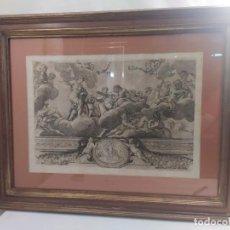 Arte: GRABADO. CARLO CESIO (1626-1686). MARCO DAÑADO. 37.3X54.4CM. Lote 206977010