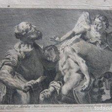 Arte: GRABADO DESDE G.B. PIAZZETTA, EL SACRIFICIO DE ISAAC DE NICOLO CAVALLI. Lote 206981523