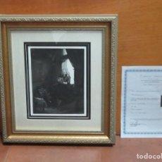 Arte: GRABADO DE REMBRANDT CON CERTIFICADO DE AUTENTICIDAD, ENMARCADO Y CON CRISTAL. Lote 207056588