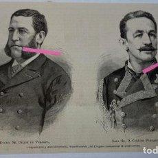 Arte: DUQUE DE VERAGUA Y D. CESÁREO FERNÁNDEZ DURO. Lote 207126513