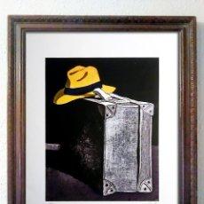Arte: CUADRO OBRA DE - EDUARDO ÚRCULO - EL VIAJERO-GRABADO PAPEL ARCHES FIRMADO-NUMERADO VI-XX 76 X 56 CMS. Lote 207143896
