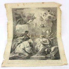 Arte: ADORACIÓN DE LOS REYES MAGOS, LUCA GIORDANO, 1772, GRABADO POR PIETRO MONACO, VENECIA. 50X36,5CM. Lote 207180938