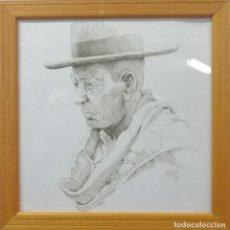 Arte: CABESTRERO. GRABADO. ENMARCADO CON CRISTAL 26X26 CM. FIRMADO NEYRA 92. SERIE PERSONAJES DEL TOREO. Lote 207196320