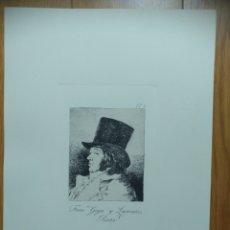Arte: GRABADO ORIGINAL DE LOS CAPRICHOS DE GOYA N°1. Lote 207237857