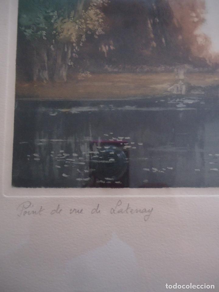 Arte: Grabado al aguafuerte original de Gastón de Latenay. 1859-1943 - Foto 2 - 207554826