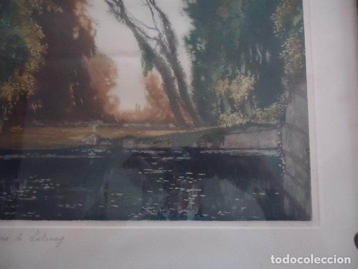 Arte: Grabado al aguafuerte original de Gastón de Latenay. 1859-1943 - Foto 3 - 207554826