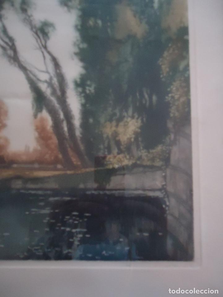 Arte: Grabado al aguafuerte original de Gastón de Latenay. 1859-1943 - Foto 4 - 207554826