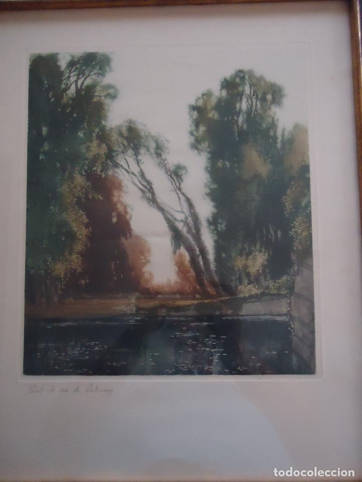 Arte: Grabado al aguafuerte original de Gastón de Latenay. 1859-1943 - Foto 5 - 207554826