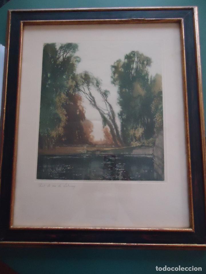 GRABADO AL AGUAFUERTE ORIGINAL DE GASTÓN DE LATENAY. 1859-1943 (Arte - Grabados - Modernos siglo XIX)