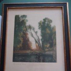 Arte: GRABADO AL AGUAFUERTE ORIGINAL DE GASTÓN DE LATENAY. 1859-1943. Lote 207554826