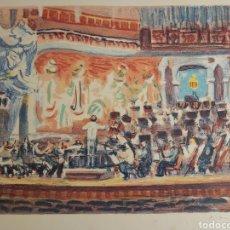 Arte: ANTIGUO GRABADO LITOGRAFÍA SIMÓ BUSOM. CONCIERTO PALACIO DE LA MÚSICA.. Lote 207588623