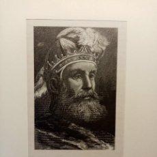 Arte: GRABADO LITOGRAFIA XIX 1890 DEL REY DE LEÓN ORDOÑO III. Lote 207655757