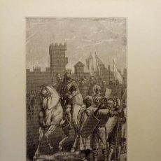 Arte: GRABADO LITOGRAFIA XIX 1890 DEL REY DE LEÓN ALFONSO VI. Lote 207656466