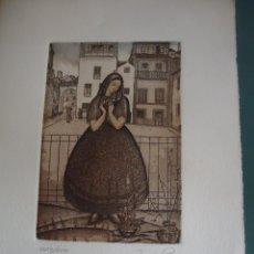 Arte: JULIO PRIETO NESPEREIRA. OURENSE 1896-MADRID 1991. GRABADO ORIGINAL NUMERADO.. Lote 207855187