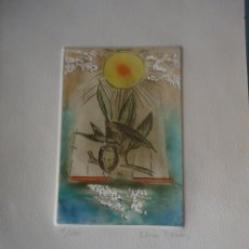 Arte: ELENA RAMOS. GRABADO ORIGINAL FIRMADO Y NUMERADO 18/100. Lote 207857916