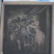 Arte: EXCELENTE ILUSTRACIÓN S.XIX SOBRE GRABADO DE 1791. MEZZOTINTA. BRITISH SCHOOL.. Lote 207927781