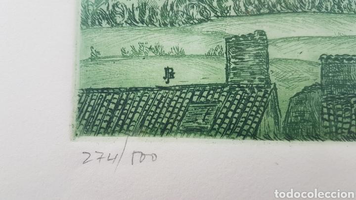 Arte: Grabado de Julio Prieto Nespereira de las vistas de la Catedral de Santiago de Compostela. - Foto 3 - 208019016