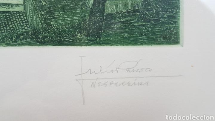 Arte: Grabado de Julio Prieto Nespereira de las vistas de la Catedral de Santiago de Compostela. - Foto 4 - 208019016