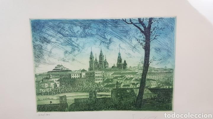 Arte: Grabado de Julio Prieto Nespereira de las vistas de la Catedral de Santiago de Compostela. - Foto 7 - 208019016