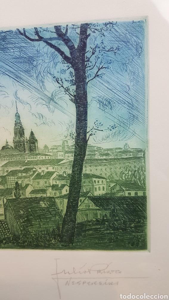 Arte: Grabado de Julio Prieto Nespereira de las vistas de la Catedral de Santiago de Compostela. - Foto 12 - 208019016