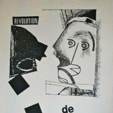 Arte: MAX PAPART. REVOLUTION DE MAI. 1968. 65 X 55 CM. RARÍSIMO. P/A. FIRMADO Y MANUSCRITO A LÁPIZ. Lote 208170111