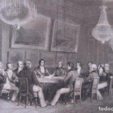"Arte: LITOGRAFIA ""FIRMA DE LA REGENCIA"". LE DUC D'ORLÉANS SIGNE LA PROCLAMATION DE LA... 1830. Lote 208303746"