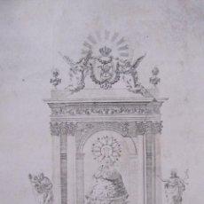 Arte: GRABADO NUESTRA SEÑORA DE LOS PUEYOS. ALCAÑIZ. 1819. Lote 208307796
