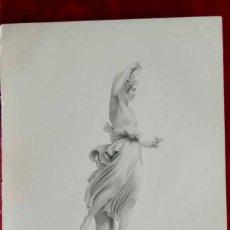 Arte: HEBE, ESCULTURA DE CANOVA, GRABADO AL ACERO THE ART JOURNAL 1852. Lote 208349011