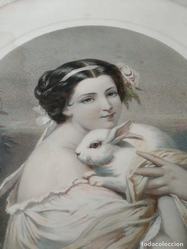 LITOGRAFÍA GRABADO ART DECO, DEL SIGLO 19 (Arte - Grabados - Modernos siglo XIX)