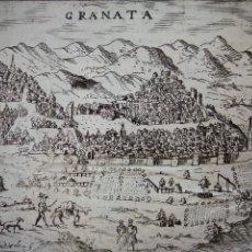 Arte: GRABADOS CIUDAD GRANADA Y GRANADINO,ORIGINAL, PADUA, 1713, LASOR / VALEGIO , MUY BUEN ESTADO,. Lote 208993075