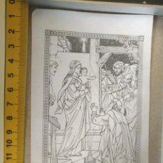 Arte: ANTIGUO GRABADO RELIGIOSO DEL AÑO 1938 - BELEN NACIMIENTO VIRGEN NIÑO JESUS REYES MAGOS. Lote 209006605