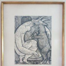 Arte: MANUEL VIUSÀ I CAMPS (BARCELONA, 1917 - PARIS,1998) - LE BON JOUR.AGUAFUERTE.FIRMADO.TITULADO.40/40.. Lote 208936078