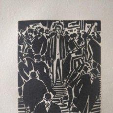 Arte: GRABADO ORIGINAL A MADERA, XILOGRAFIA DE FRANZ MASAREEL, AÑOS 30, GRABADOS EN LAS DOS CARAS. Lote 209165718