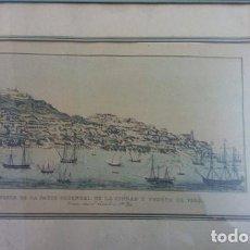 Arte: GRABADO VISTA DE LA PARTE ORIENTAL DE LA CIUDAD Y EL PUERTO DE VIGO. 1840..SIGLO XIX. ORIGINAL. Lote 209243213