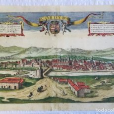 Arte: GRABADO ANTIGUO COLOREADO. VISTA CORDOBA (ESPAÑA). BRAUN HOGENBERG. AÑO 1617. CATEDRAL - MEZQUITA. Lote 209359365