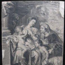Arte: VIRGEN CON EL NIÑO, SANTA ISABEL I SAN JUANITO, AFTER RUBENS, DE JAN WITDOECK. Lote 209407217