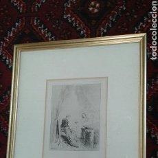 Arte: GRABADO ORIGINAL DE J.L. MEISSONIER ( EXPOSITION MEISSONIER, 1893). Lote 209415790